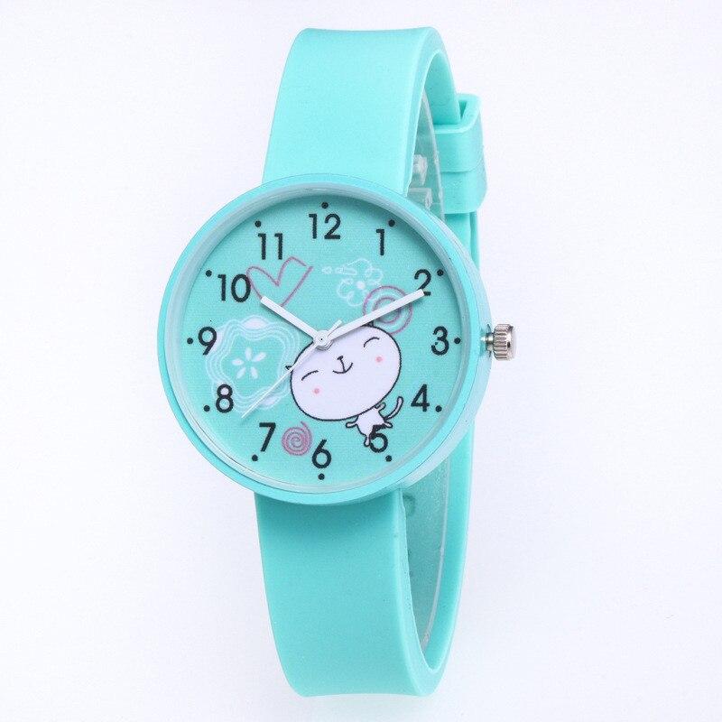 Fashion Cute Girls Design Children Watch Quartz Jelly Kids Clock Boys Students Wristwatches Relogio Kol Saati Clock