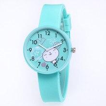 Fashion Cute Girls Design Children Watch Quartz Jelly Kids Clock Boys S