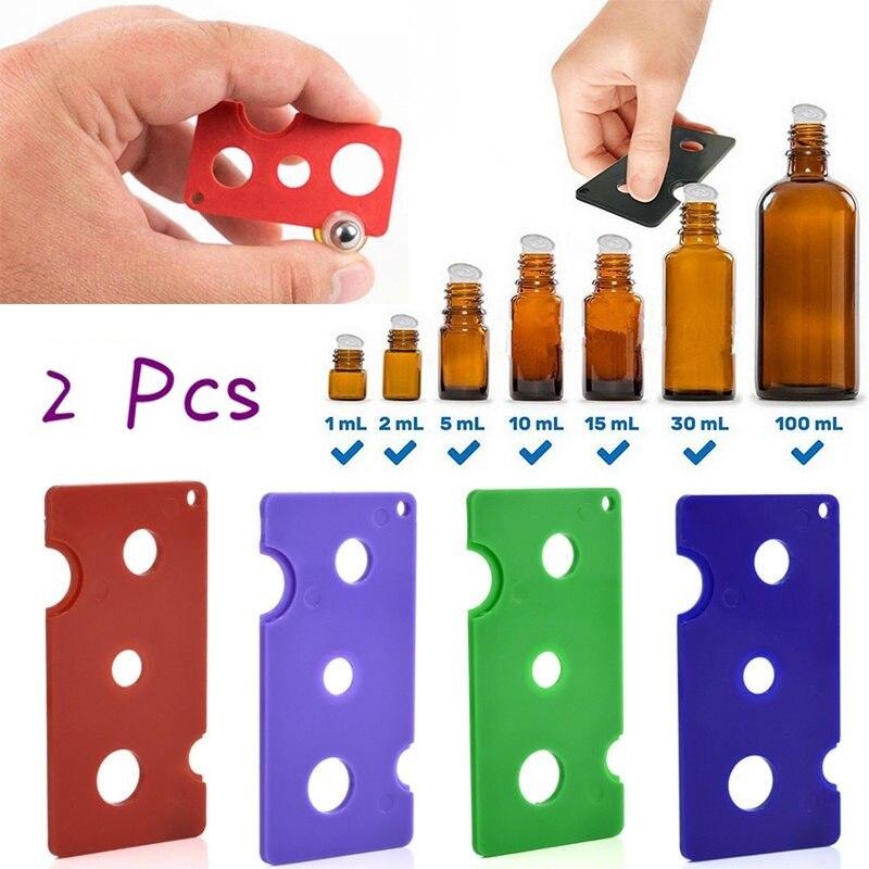 2 Pc Essential Oil Opener Key Tool Remover for Roller Balls and Caps Bottles Plastic Opener Roller Bottle Corkscrew Tool