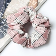 Plaid Hair Scrunchies Pack For Women Spring and Summer scrunchie Stand Hair Bands Girls Hair Ties Ponytail Holders Hair Accessor