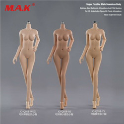 Hot Sales JIAOU 1/6 Little Breast Young Girl Body Suntan/Pale/Tan Skin Rubber Figure Doll 3 COLORS Available