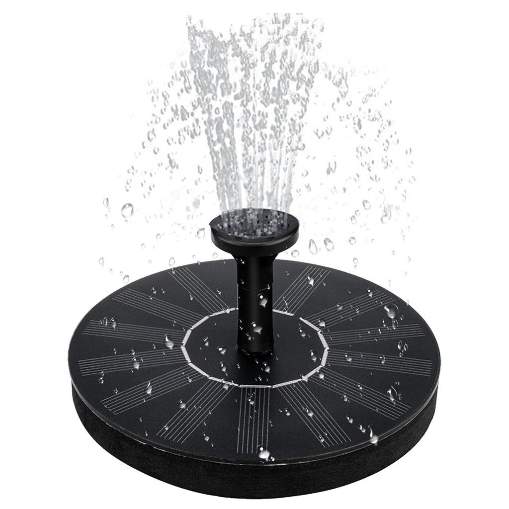 Плавающий садовый фонтан на солнечной батарее, декоративный водяной фонтан с питанием от солнечной панели, украшение сада, патио, лужайки