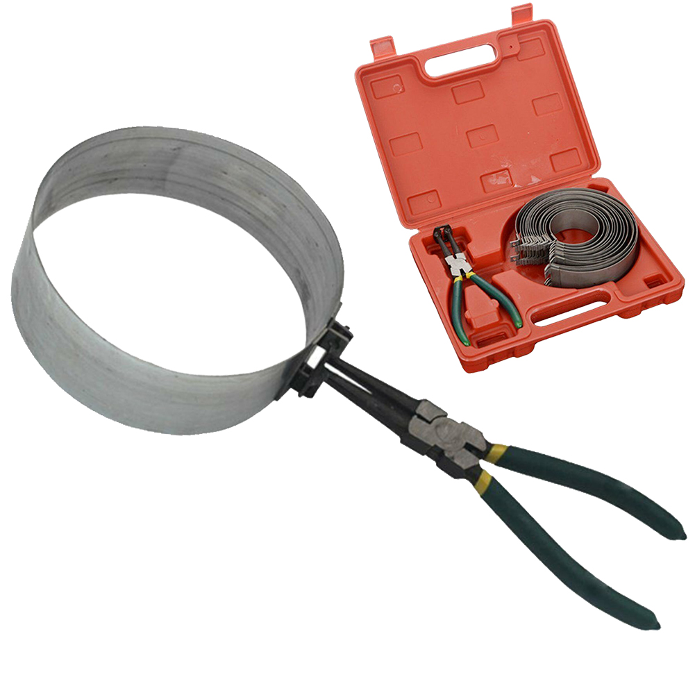 62-140mm Fastener Clamp Cylinder Installation Piston Ring Compressor Motorcycle Universal Pliers Repair Tool Kit Replacement
