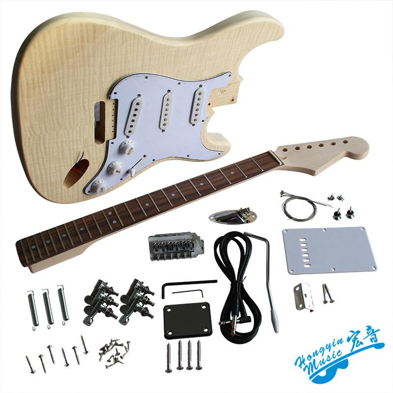 Electric guitar making materials, accessories, tiger skin, maple, solid wood, eucalyptus, American hard maple neck