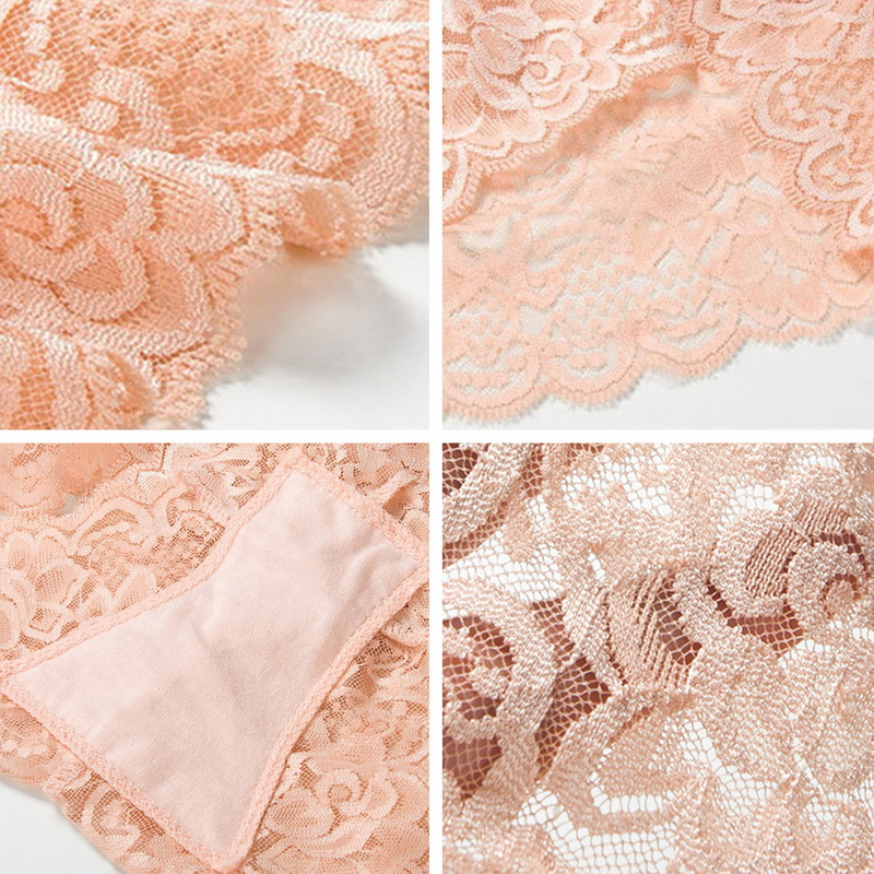 2020 New Ladies Sexy Transparent Underwear Breathable Woman Panties High Waist Cotton Trunks Lingerie Fashion Lace Cute Briefs