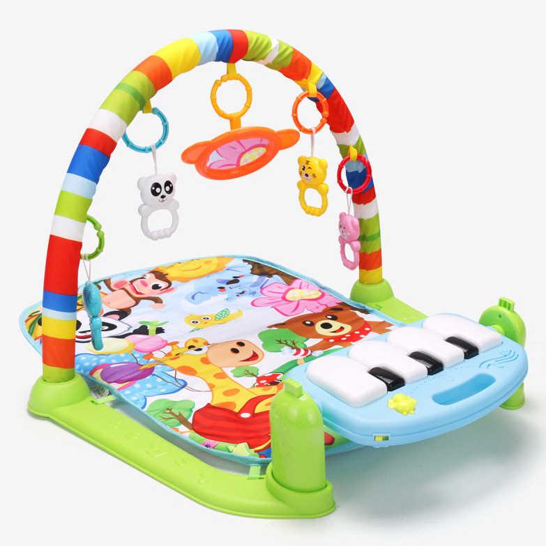 Детский игровой коврик Детские развивающие игры коврик пазл ковер с клавиатурой пианино и милым животным ковриком детский ползающий коврик развивающие игрушки