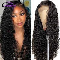 Peluca de pelo de arándano con cierre de ondas al agua, cabello peruano, pelucas de cabello humano Remy para mujeres negras, peluca con cierre de encaje 4x4, línea de cabello prelucido