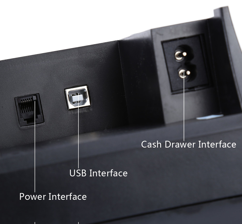 JP-5890k 58mm Schwarzer Thermobondrucker 58mm Thermodrucker 58mm USB - Büroelektronik - Foto 5