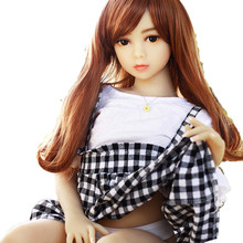 USA RU Warehouse BK01 Realistic Mini Tpe Real 100Cm Sized Flat Chest Big Ass Silicone Sex Doll For Men Man(China)