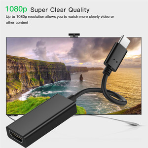 Image 2 - USB 3.1 Type C to HDMI Adapter Male to Female Audio Video Converter USB C Cable for Samsung Galaxy S8 Plus for Huawei P20