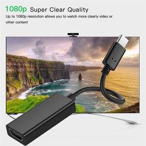 Image 2 - USB 3.1 di Tipo C a HDMI Adattatore Maschio a Femmina Audio Video Converter USB C Cavo per Samsung Galaxy S8 Più per Huawei P20