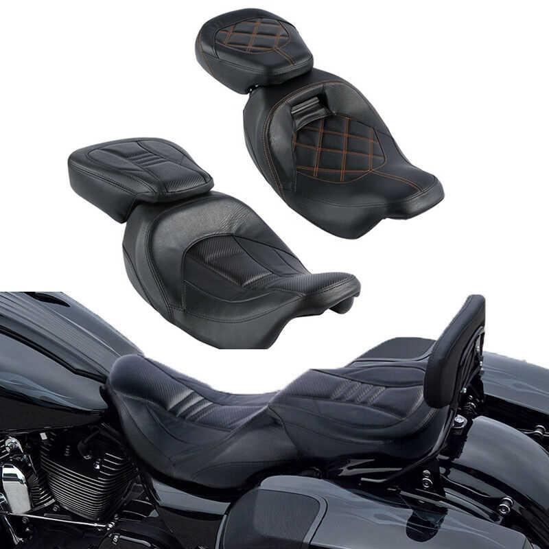 Sepeda Motor Sepeda Motor Rider Driver Kursi Penumpang untuk Harley Road King CVO Street Glide 2009-2020 2015-2020
