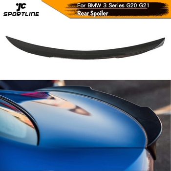ABS Glossy Black Carbon Look Rear Trunk Spoiler Boot Lip Wing For BMW 3 Series G20 G21 Base and M SPORT 2019 2020