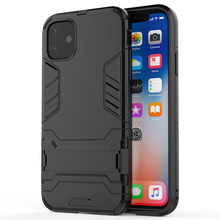 robot holder Case for iPhone 11 2019 on Pro XI Luxury Silicone pc hard Phone Cover Coque Fundas
