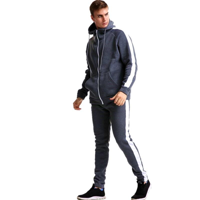 Image 5 - 2019 Autumn brand sporting suit men Suit Men Hoodies Sets Mens Gyms Sportswear Jogger Suit Male Tracksuit sets-in Men's Sets from Men's Clothing