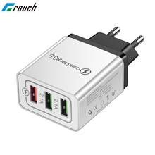 30W Quick Charge 3.0 USB Charger Voor iPhone XR 7 8 EU US Plug Muur Mobiele Telefoon Fast Charger opladen voor Samsung Huawei Xiaomi(China)