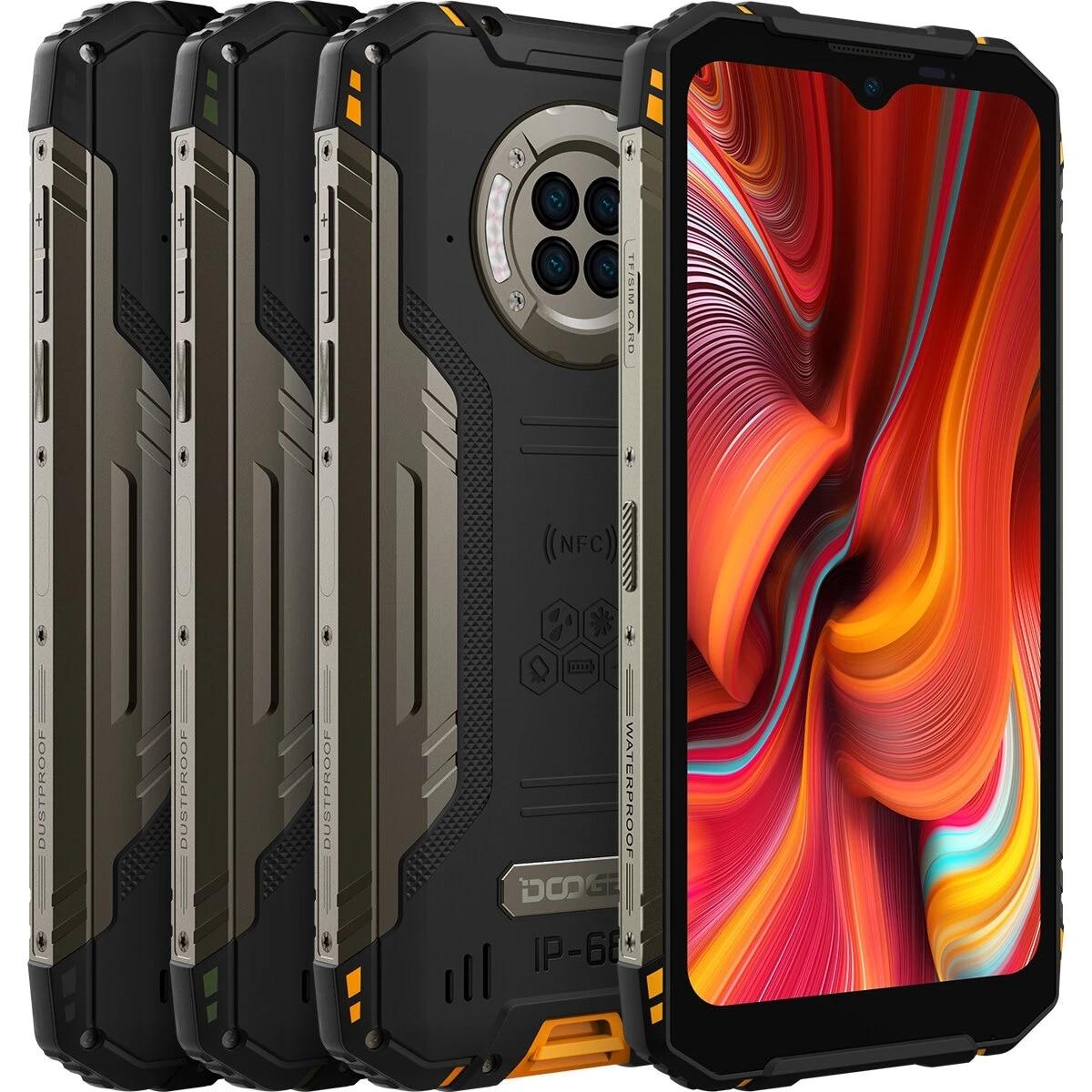 Смартфон DOOGEE S96 Pro защищенный, IP68 + IPIP69K, 8 + 128 ГБ, Helio G90, NFC, Android 10, 6350 мА · ч, 6,22 дюйма, 48 МП