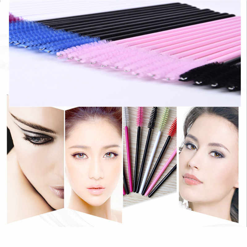 Hot 10Pcs Eyelash Brushes Makeup Brushes Disposable Mascara Wands Applicator Spoolers Eye Lashes Cosmetic Brush Makeup Tools