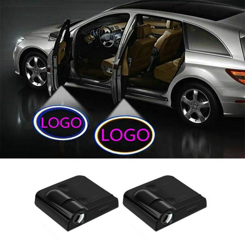 Car LED Door Light Projector Logo Welcome Light For Hyundai I30 Ix35 Ix25 Tucson Elantra Ioniq I40 I20 Kona Sonata Yf Nf Ef If
