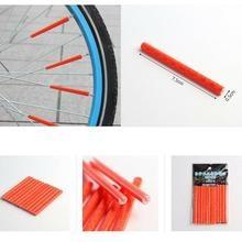 12 шт. Велосипедное колесо спиц отражатель светоотражающее крепление Предупреждение льная полоса