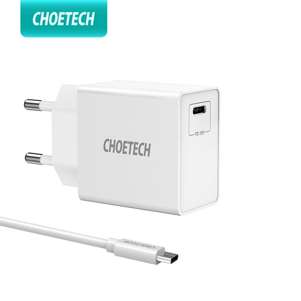 CHOETECH <font><b>USB</b></font> type <font><b>C</b></font> Charger 18W PD Wall Charger Mobile Charger for iPhone 11 Pro XS XR X 8 Plus Charger for SamsungS9 S8 image