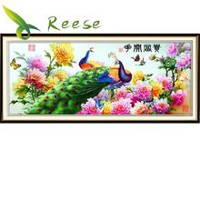 The New Diamond Painting Flowers Rich Peony Peacock Figure Full Diy Embroidery 120x50cm