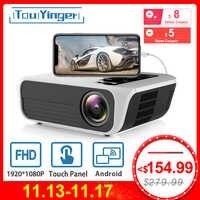 Touyinger L7 LED natif 1080P projecteur 4500 Lumens full HD projecteur vidéo Android 7.1 wifi AC3 Bluetooth Home cinéma HDMI