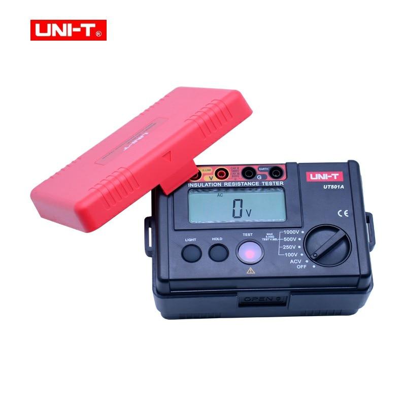 Tools : UNI-T UT501A Insulation Resistance Tester 100-1000V megger meter digital Resistance meter Megohmmeter 30 750V AC voltmeter gift