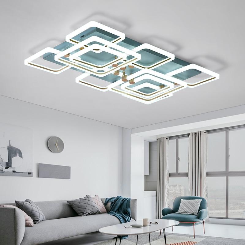 NEO Gleam Acrylic Modern Led Ceiling Lights For Living Room Bedroom Study Room Home Deco 90-260V Led Ceiling Lamp Fixtures