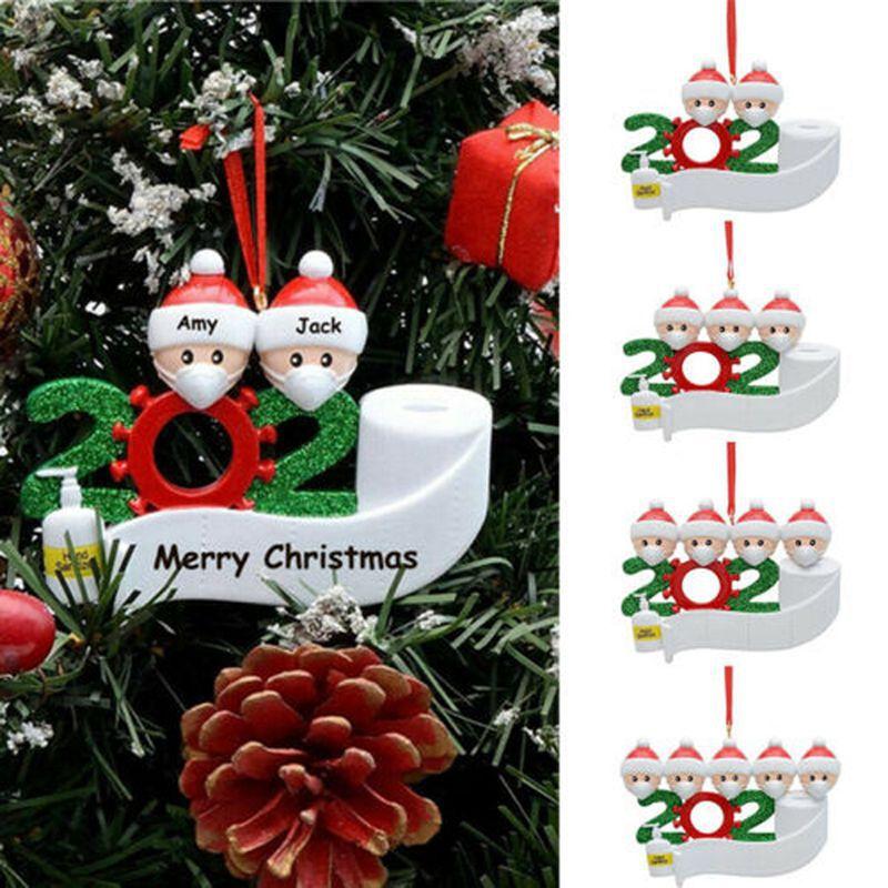 Новинка 2020, карантин, Рождественское украшение, рождественский подарок, персонализированный подвесной орнамент, пандемия, Рождественское ...