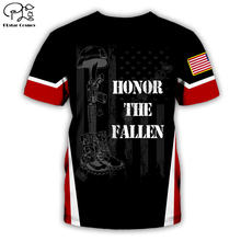 Honor the fallen футболка Летняя с принтом для мужчин и женщин