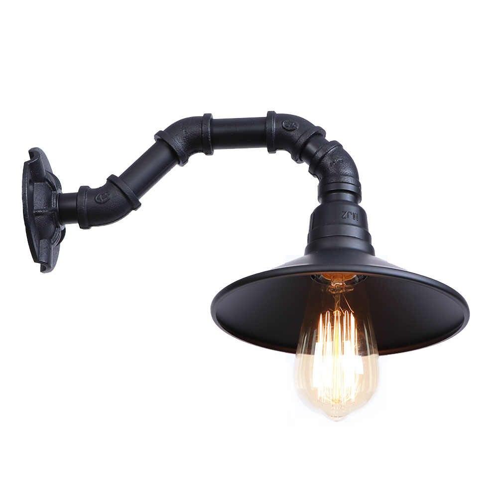 Черный железный Ретро светодиодный настенный светильник американская промышленная водопроводная труба настенный светильник Лофт Декор Эдисона бра для коридора прикроватный Домашний Светильник
