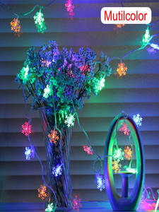 Fairy-Lights String Battery-Power-Snowflake Christmas-Tree Home-Decor Party 20LED 3M