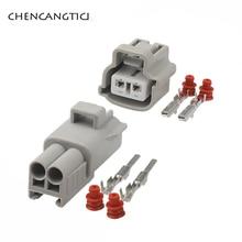 2 Sets 2 Pin Way Sumitomo Automotive Fog Socket Lamp Plug Turn Signal Light Connector For Toyota Cars 90980-11019