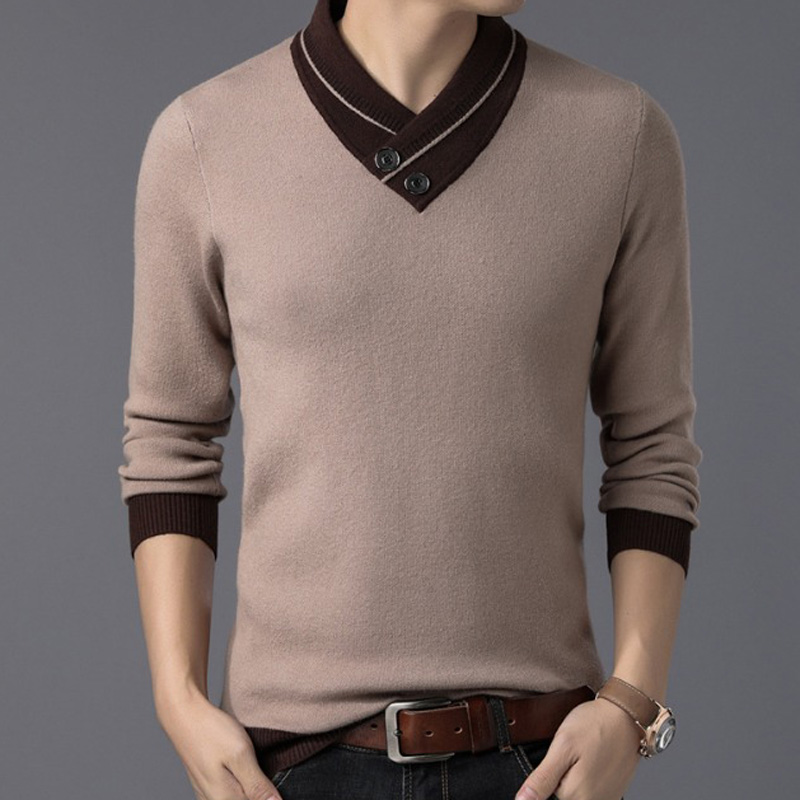ZOGAA 2019 New Solid Cotton Men Sweater Warm Long Sleeve Spring Winter Clothes For Male Fashion Slim Fit Casual  Men's Sweater