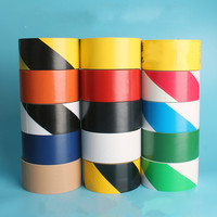 Warning Tape Black And Yellow 4.8*18 Zebra Line Tape Pvc Yellow And Black Floor Safety Label Tape