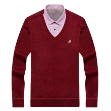 Aoliwen cashmere pillovers twinset fleece lining men Sweater cardigan keep warm for winter Comfortable shirts slim fit