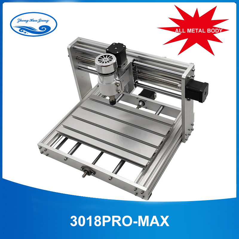 CNC 3018pro-Metal With ER11 GRBL Control With 200W Spindle,3 Axis Pcb Milling Machine,Diy Wood Router Support Laser Engraving