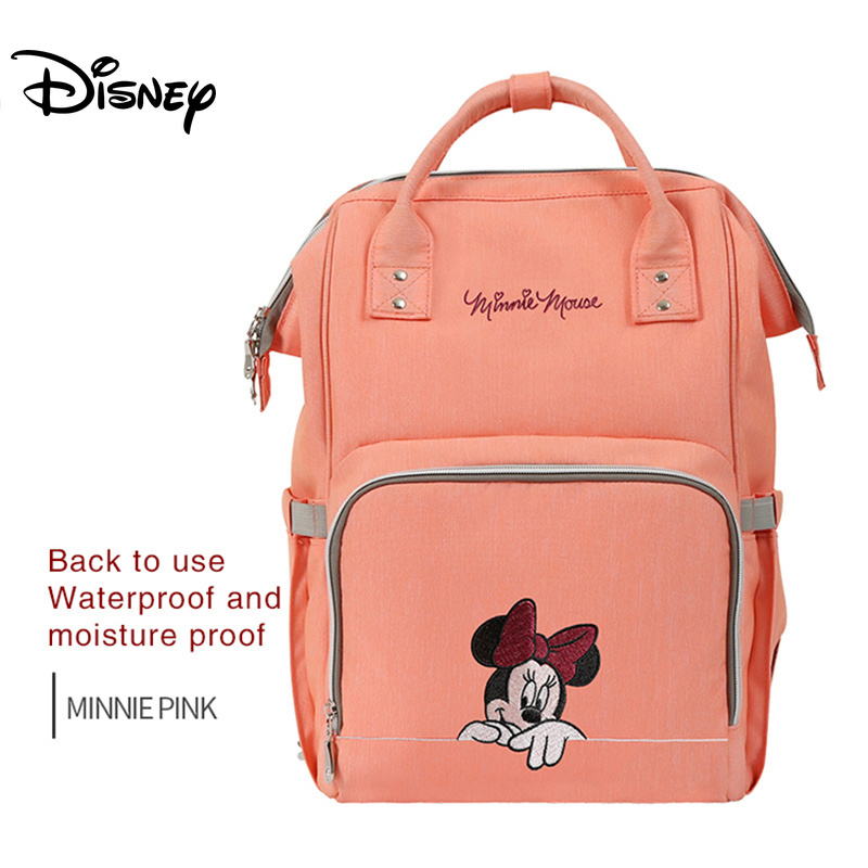Disney Mummy Mom Bag Multi-function Waterproof Backpack Diaper Nappy Bags Travel Backpack Maternity Baby Care Pram Stroller