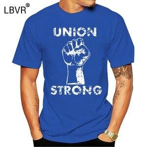 Gran oferta de 2020, camiseta a la moda Unión fuerte-mano de obra, puño UAW Trades