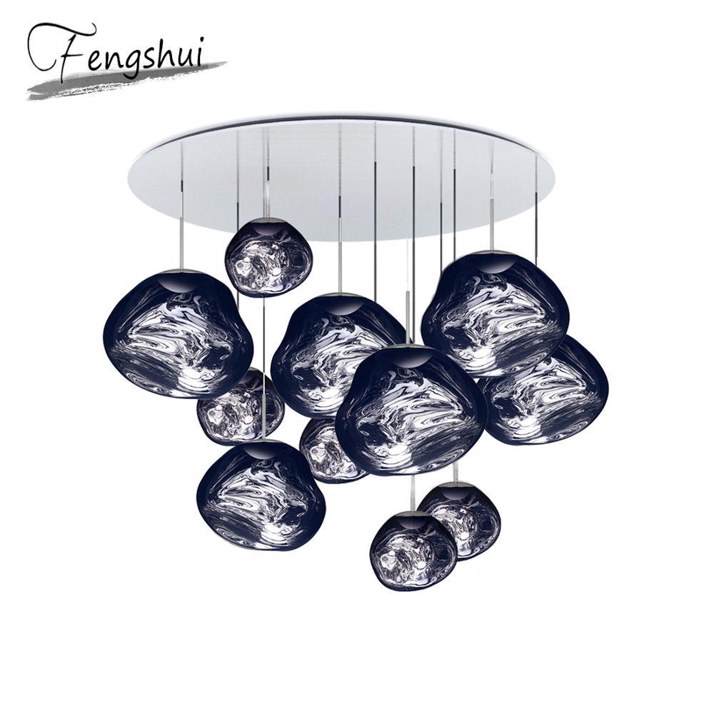 Nordic Glass Lava LED Pendant Lights Lighting Pendant Lamps For Home Decor Living Room Bar Cafe Loft Kitchen Fixtures Hanglamp