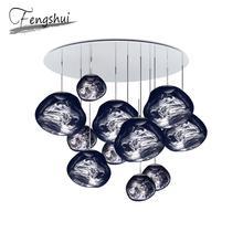 Nordic Glass Lava LED Pendant Lights Lighting Lamps for Home Decor Living Room Bar Cafe Loft Kitchen Fixtures Hanglamp