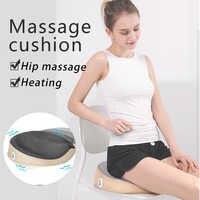 Cojín de masaje eléctrico masaje de cadera masaje térmico cojín de asiento de coche cojín de oficina en casa asiento de masaje multifuncional