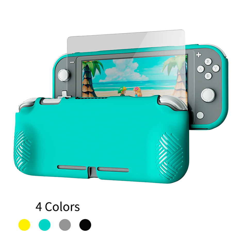 OIVO for Nintendo Switch Lite Case Cover Tempered Glass Screen Protector For Switch Lite Soft Cover Shell HD Screen Protector