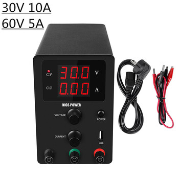 Mini LED Display 30V/60V 5A/10A Adjustable Voltage Regulated POWER-SUPPLY unit Bench Source Suitable For Phones