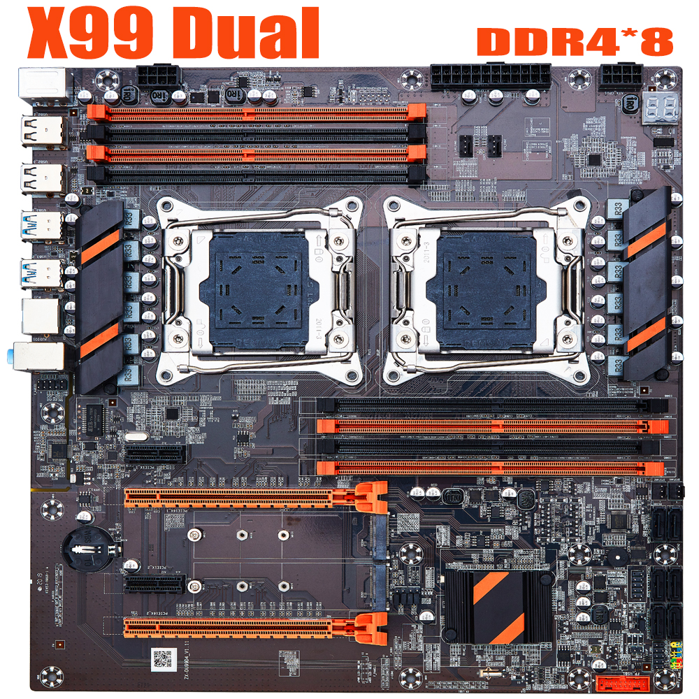 X99 Dual Motherboard Computer Professional Motherboard LGA2011 3 CPU RECC DDR4 Memory Eating Chicken Game Motherboard|Motherboards| - AliExpress