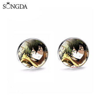 Anime My Hero Academia Stud Earring Madman Entertainment Midoriya Izuku Todoroki Glass Dome Earring For Women Men Jewelry image