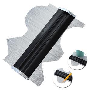 Image 2 - Metal Stainless Steel Profile Contour Gauge Template Tiling Skirting Laminate Profile Wood Ruler Measuring Tools