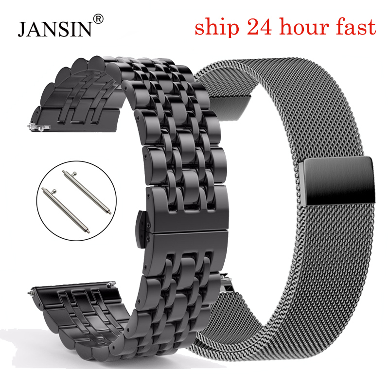 20mm 22mm Stainless Steel Watchband For Samsung Gear S3 Bracelet Strap For Samsung Galaxy Watch 42mm 46mm/Active 2 40mm 44mm