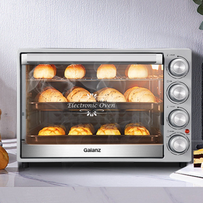 40L Large Capacity Oven  Household Baking Small Automatic Multifunctional  Pizza  Toaster Oven  Kitchen Appliances Electric|Ovens| |  - title=